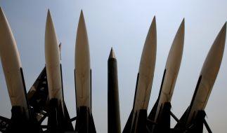 Atomare Drohgebärden: Erst am Donnerstag hatte Nordkorea auf die neuen UN-Sanktionen mit dem Abschuss von sechs Kurzstreckenraketen reagiert. (Foto)