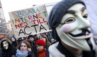 Auch in Stockholm wird gegen Acta demonstriert. (Foto)