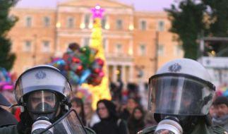 Auch über Weihnachten Randale in Athen (Foto)