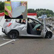 Auf der A31 ist ein Autofahrer gestorben, weil eine Stahlplatte durch seine Windschutzscheibe schleuderte. (Foto)