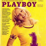 Auf dem Cover der erster deutschen Playboy-Ausgabe posierte Gaby Heier.