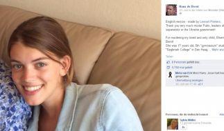 Auf Facebook trauert Hans de Borst um seine erst 17-jährige Tochter. (Foto)