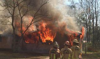 Auf Facebook stellte die Feuerwehr Bilder der Aktion online. (Foto)
