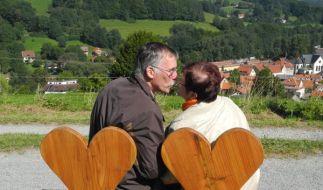 Auf dem Liebesweg im hessischen Poppenhausen kann richtig lustvoll gewandert werden. (Foto)