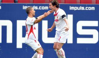 Augsburg bleibt auf Aufstiegskurs - 2:0 gegenRWO (Foto)