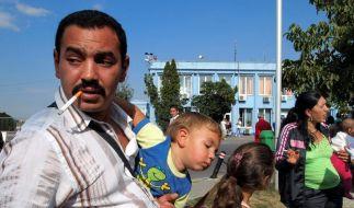 Aus Frankreich ausgewiesene Roma kommen in Rumänien an (Archivfoto vom 19. August 2010). (Foto)