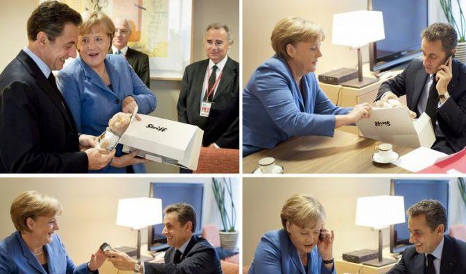 Baby-Geschenke für Sarkozy auf EU-Gipfel (Foto)