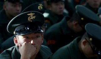 Banges Warten für einen südkoreanischen Soldaten. (Foto)