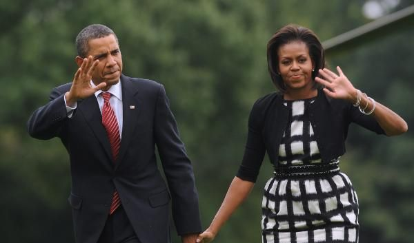 Barack und Michelle Obama verabschieden sich von der olympischen Hoffnung (Foto)