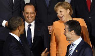 Barack Obama, Anders Fogh Rasmussen, Angela Merkel, Francois Hollande (Foto)