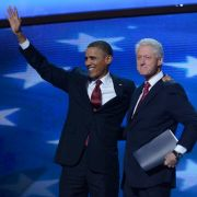 Barack Obama und Bill Clinton auf dem Parteitag der Demokraten in Charlotte.