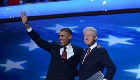 Barack Obama und Bill Clinton auf dem Parteitag der Demokraten in Charlotte. (Foto)