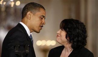 Barack Obama hat die Bundesrichterin Sonia Sotomayor für den Obersten Gerichtshof der USA nominiert. (Foto)