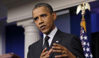 Barack Obama droht Syriens Präsident Assad. (Foto)