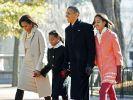 Barack Obama, Michelle Obama, Sasha Obama,  Malia Obama (Foto)