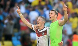 Bastian Schweinsteiger und Manuel Neuer sind die Favoriten auf das Kapitänsamt. (Foto)