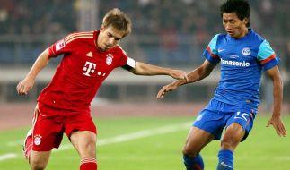 Bayern 4:0 in Indien - Traumtor von Schweinsteiger (Foto)