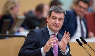 Bayerns Finanzminister Markus Söder während einer Debatteim bayerischen Landtag. (Foto)