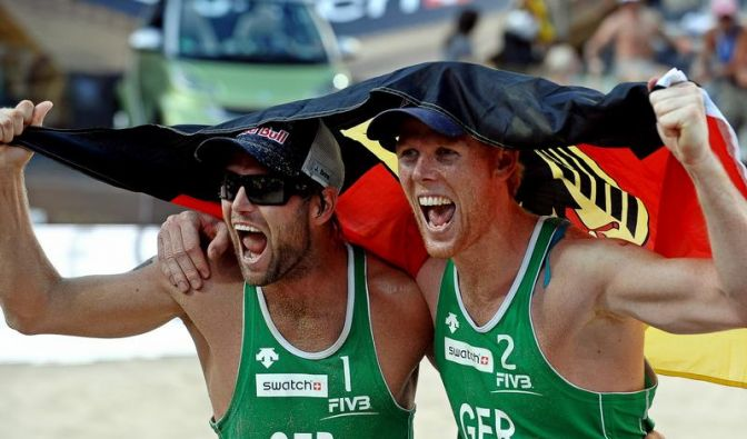 Beachvolleyball: Brink/Reckermann im EM-Achtelfinale (Foto)