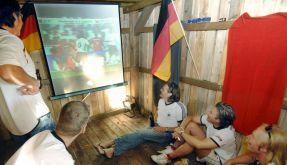 Beamer zum Fußball gucken (Foto)