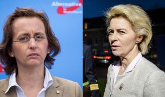 Beatrix von Storch fühlte sich sicher nach dem Wahlsieg der AfD, doch dann konfrontierte sie Ursula von der Leyen mit Politik-Themen außerhalb der Flüchtlingsproblematik. (Foto)