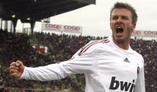 Beckham bejubelt Premierentreffer für Milan (Foto)