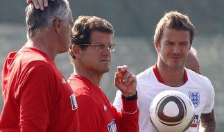 Beckham und Capello (Foto)