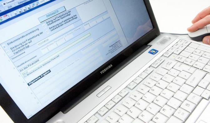 Bei elektronischer Steuererklärung Fehler vermeiden (Foto)