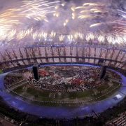 Bei der Eröffnungszeremonie der Olympischen Spiele 2012 in London durfte natürlich auch ein Abschlussfeuerwerk nicht fehlen.