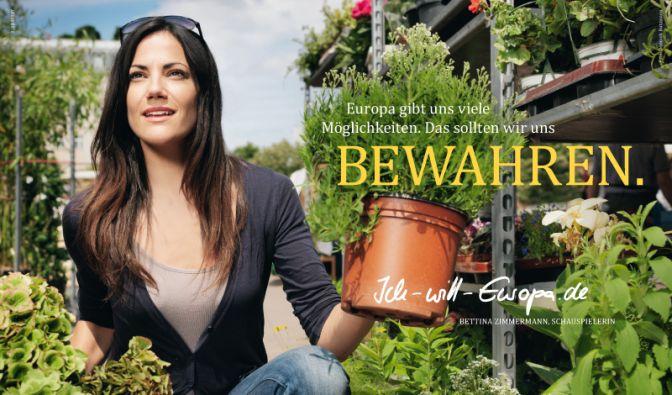 Bei «Ich will Europa» dabei sind unter anderem Schauspielerin Bettina Zimmermann und ... (Foto)