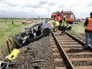 Bei dem schweren Unfall an einem Bahnübergang im Kreis Nordfriesland ist der 50-jähriger Autofahrer ums Leben gekommen. (Foto)