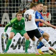 Beim 1:0 durch Mario Götze war Gunnar Nielsen machtlos.