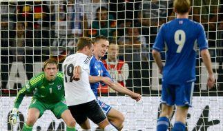 Beim 1:0 durch Mario Götze war Gunnar Nielsen machtlos. (Foto)