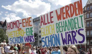 Beim Christopher-Street-Day demonstrieren Homosexuelle für echte Gleichstellung. (Foto)