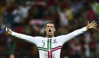 Beim EM-Halbfinale Portugal gegen Spanien steht Cristiano Ronaldo mal wieder im Fokus. (Foto)