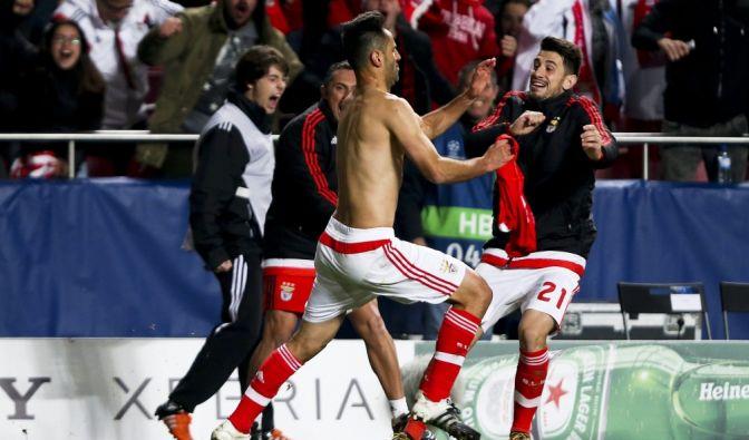 Benfica Lissabon schießt sich ins Viertelfinale der Champions League. (Foto)