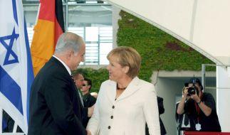 Benjamin Netanjahu und Angela Merkel in Berlin. (Foto)