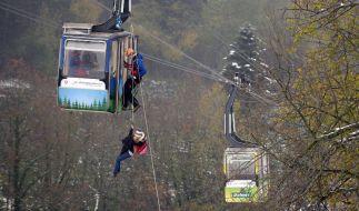 """Bergwachtübung an der Schauinslandbahn: Bei einer solchen Übung am """"Großen Arber"""" kam ein 48-jähriger Bergretter ums Leben. (Foto)"""