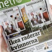 Bericht einer schwedischen Zeitung: Ikea hat aus der saudi-arabischen Version des neuen Ikea-Katalogs Frauenbilder wegretuschiert.