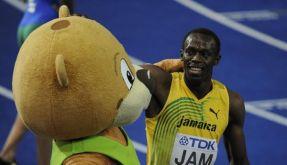 Berlin und Maskottchen Berlino haben Seriensieger Usain Bolt ins Herz geschlossen. (Foto)