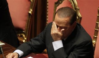 Berlusconi im Senat in Rom (Foto)