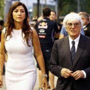 Bernie Ecclestone und Ehefrau Flosi. (Foto)