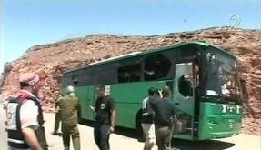 Beschossener Bus (Foto)