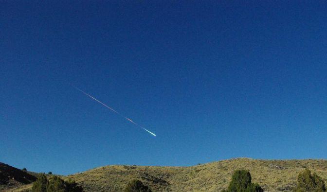 Besuch aus dem All: Feuerball über der Sierra Nevada (Foto)