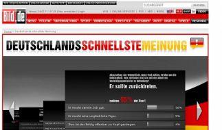Bild.de-Umfrage (Foto)