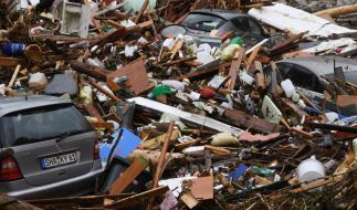 Bilder der Verwüstung Ende Mai: Insbesondere über Süddeutschland haben schwere Unwetter zahlreiche Schäden angerichtet. (Foto)