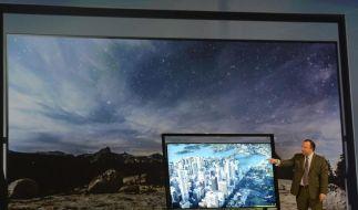 Bildschirmdiagonalen von bis zu 110 Zoll - so sehen bei Samsung die Träume vom ultimativen Flachbildfernseher aus. (Foto)