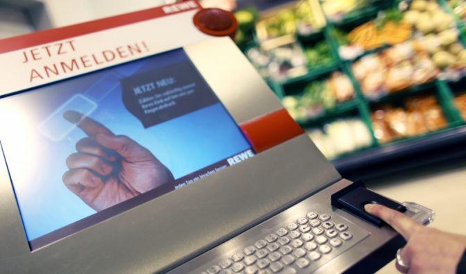 Biometrie im Supermarkt (Foto)