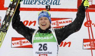 Birnbacher mit Sieg im Biathlon-Weltcup (Foto)