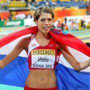 Blanka Vlasic aus Kroatien wurde 2007 und 2009 Weltmeisterin und 2010 Europameisterin im Hochsprung. Wegen einer Fußverletzung ist sie aber in Moskau nicht mit von der Partie.